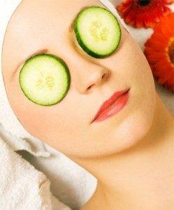 cucumber slices for dark circles