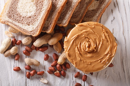 peanut butter and fresh bread